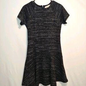 Ann Taylor LOFT Short Sleeve Black and Gray Dress